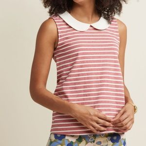 Everyday Fave Tank Top in Washed Red Stripe